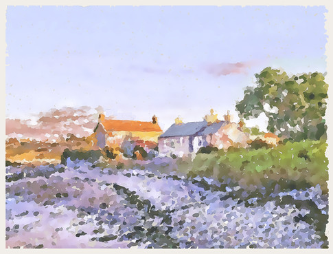 Some Scilly Islands houses. 2017.