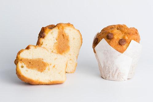 Super Muffins de Vainilla relleno de dulce de leche de 130 grs. x 6 unidades.