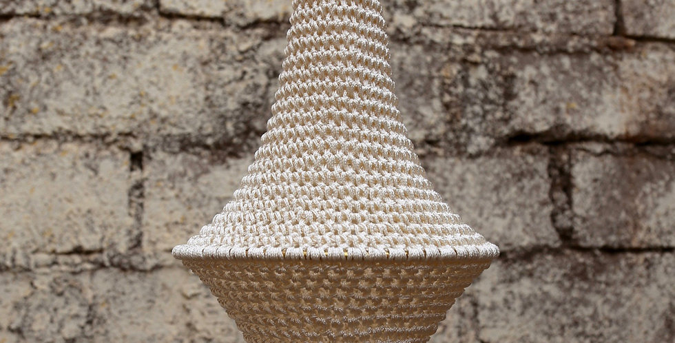 Wahad Crochet Hängelampe - weiß - Small