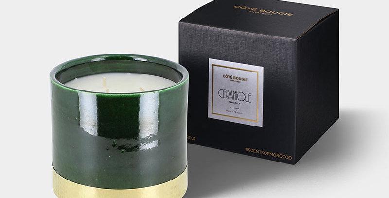 "CÔTÉ BOUGIE Duftkerze ""Green Gold"" - Tannenwald - M"