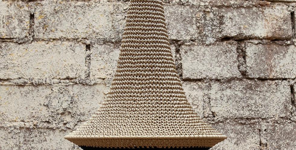 Wahad Crochet Hängelampe - Lehm/schwarz - Medium