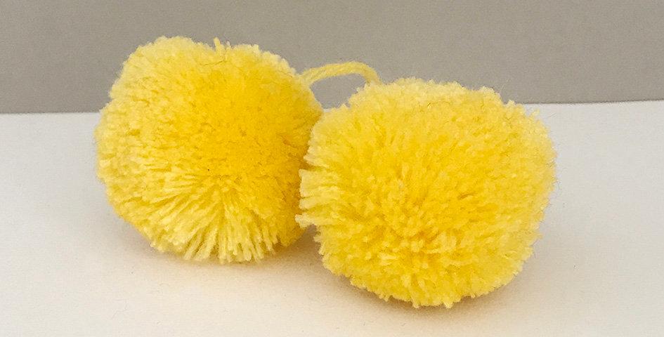 Pompon Gelb - Handgemacht