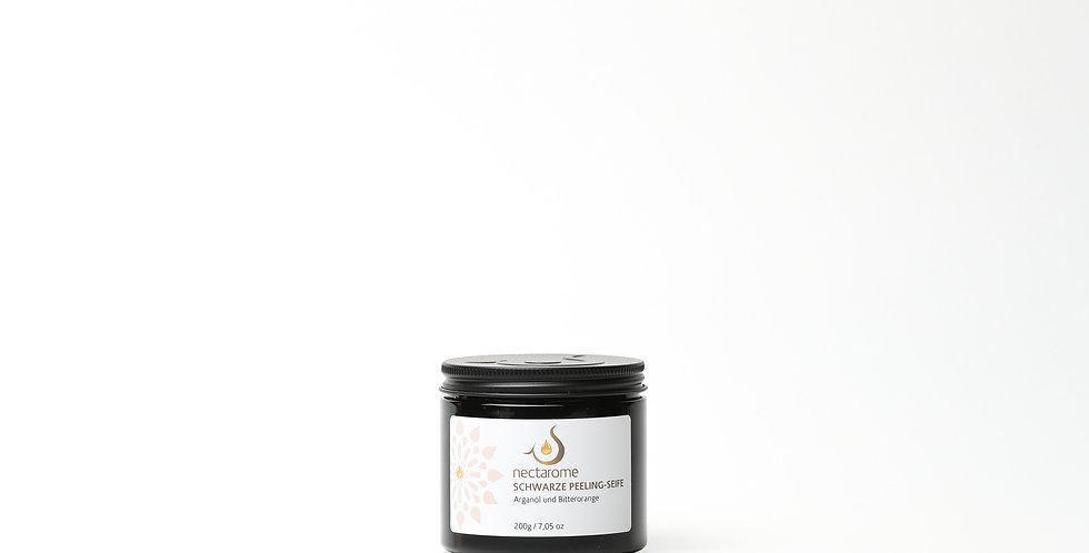NECTAROME Schwarze Peeling-Seife Arganöl und Bitterorange - 200g