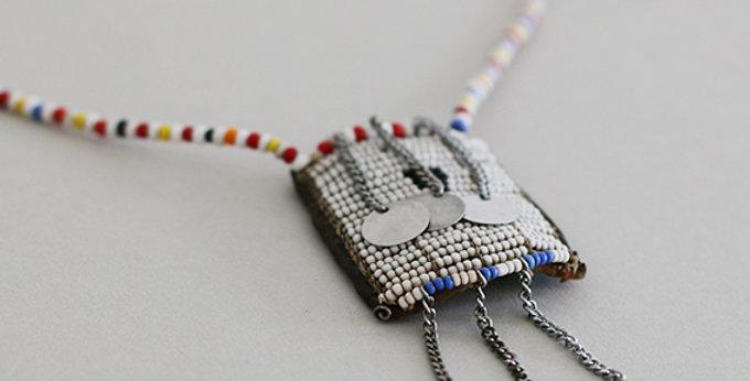 Massai Perlenschmuck Halskette