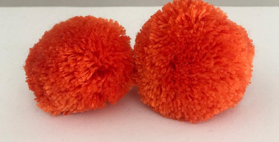 Pompon Orange - Handgemacht