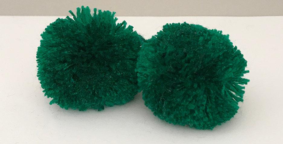 Pompon Smaragdgrün - Handgemacht