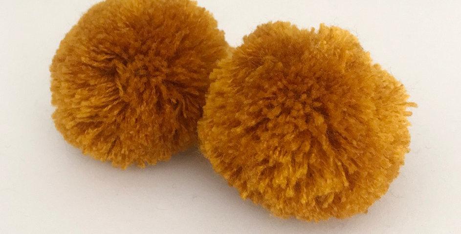 Pompon Senf - Handgemacht