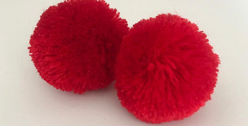 Pompon Rot - Handgemacht