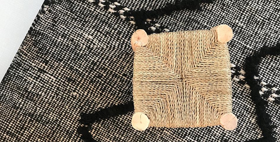 Zanafi Teppich - schwarz-weiß meliert - ca. 260x150 cm