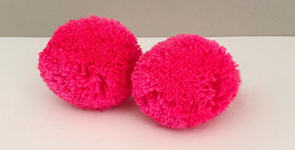 Pompon Pink Fluo - Handgemacht