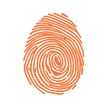 Orange finger print transparent Back Gro