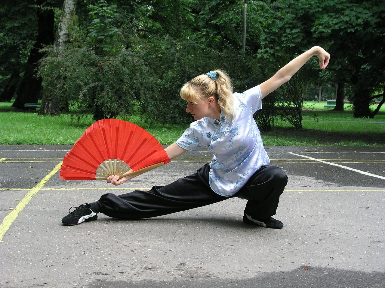 Beata tai chi chuan forma z wachlarzem  2004