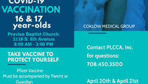 COVID-19 Vaccination for ages 16 & 17