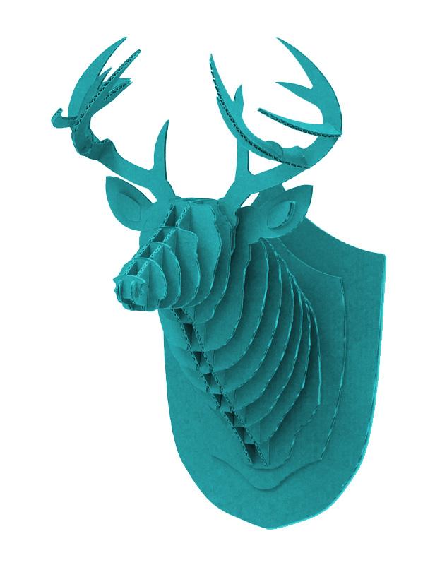 Cardboard Deer Blue