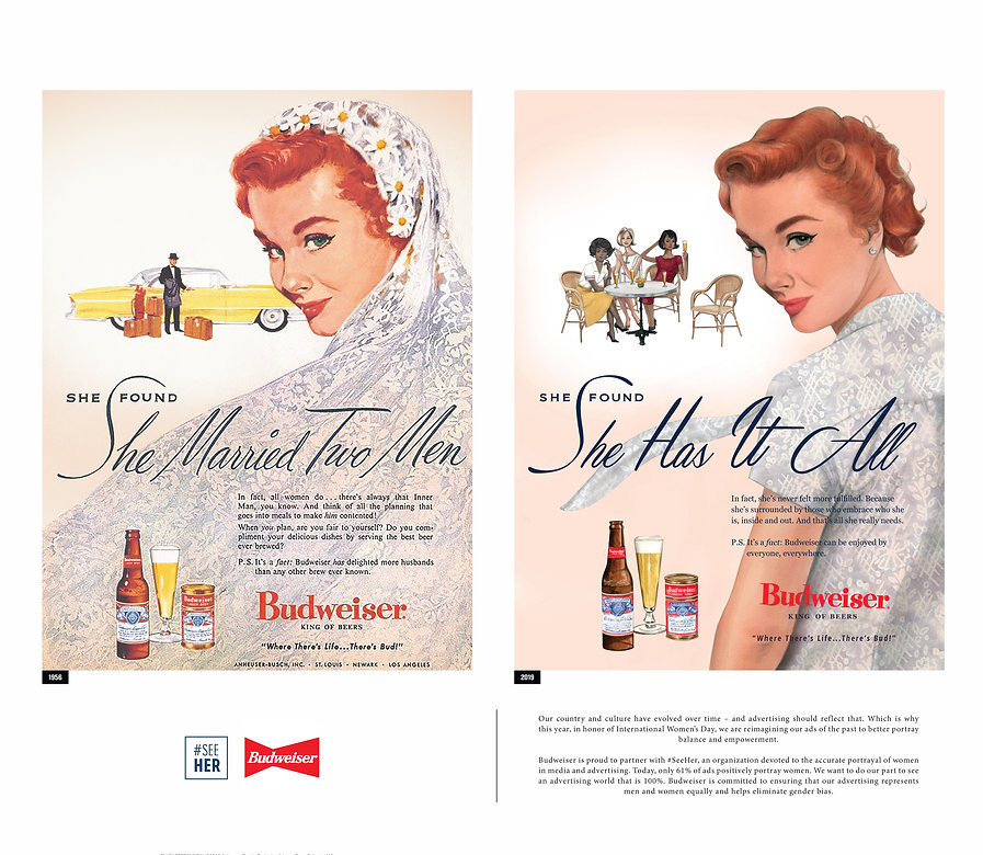 Redesigned Budweiser Ad from 1956