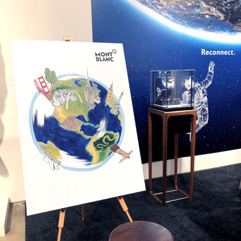 MONTBLANC SPACE EXPLORATION LIVE ILLUSTRATION
