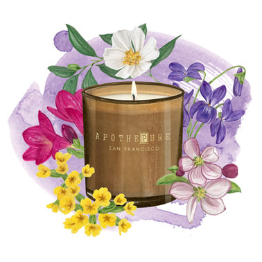 Flroal Candle