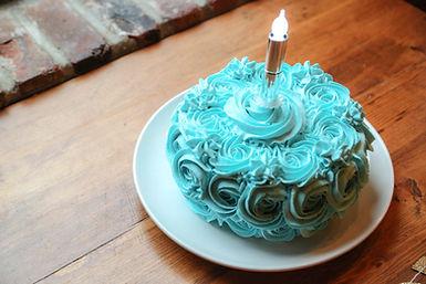 Wishful Wicks Flameless Candle Birthday Cake