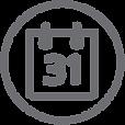 Short Long Timeframe Icon Flat Outline U