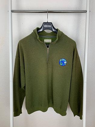 "THXMATE ""Globe"" Sweater mit Zipper"