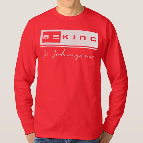 Be King LS Tee Red/White