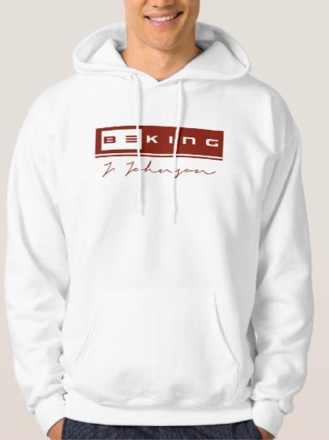 Be King Hoodie White/Burgundy