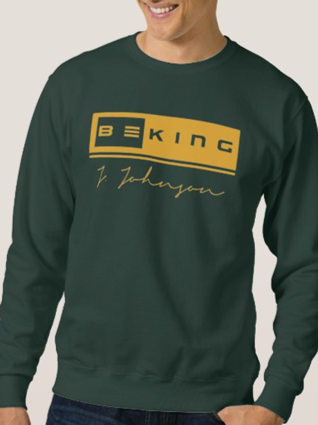 Be King Sweat Shirt Forrest Green/Gold