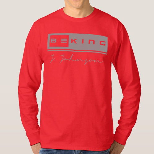 Be King LS Tee Red/Gray
