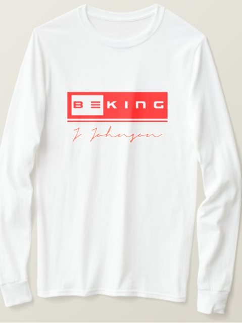 Be King LS Tee White/Red