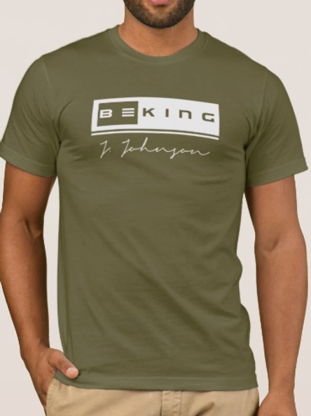 Be King Tee Army Green/White
