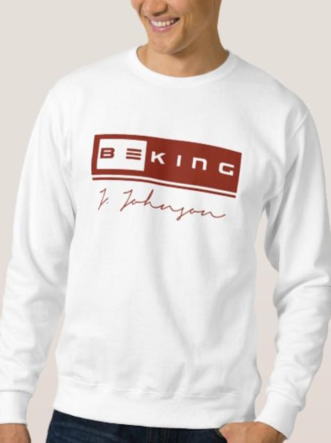 Be King Sweat Shirt White/Bergundy