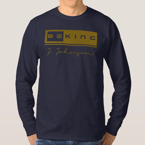 Be King LS Tee Navy/Gold