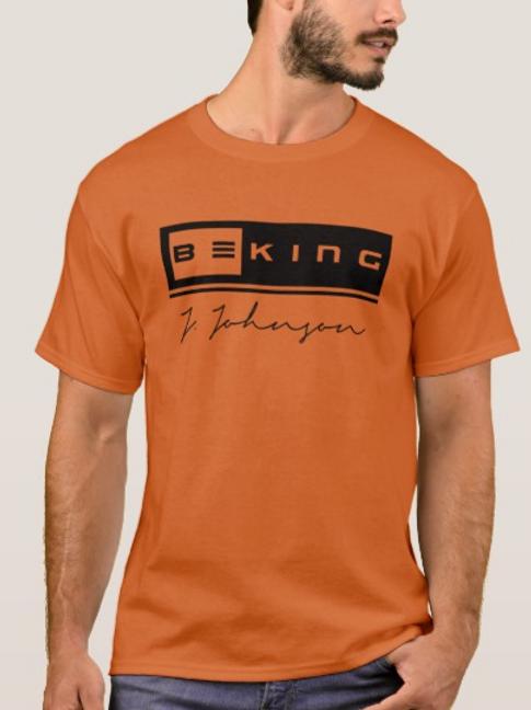 Be King Short Sleeve Tee Orange/BLK