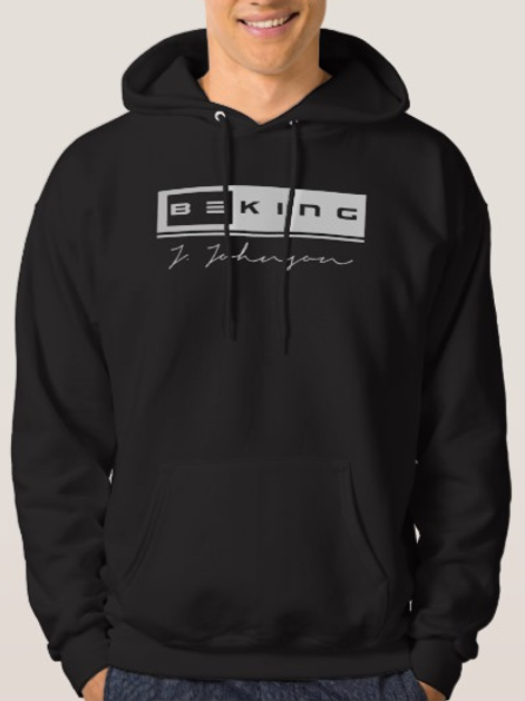 Be King Hoodie Black/White
