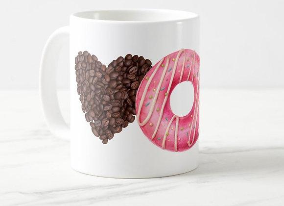 Coffee & Donut Love Coffee Mug