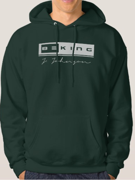 Be King Hoodie Forrest Green/ White
