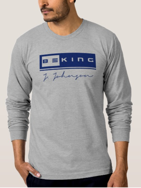 Be King LS Tee Sports Gray/ Navy