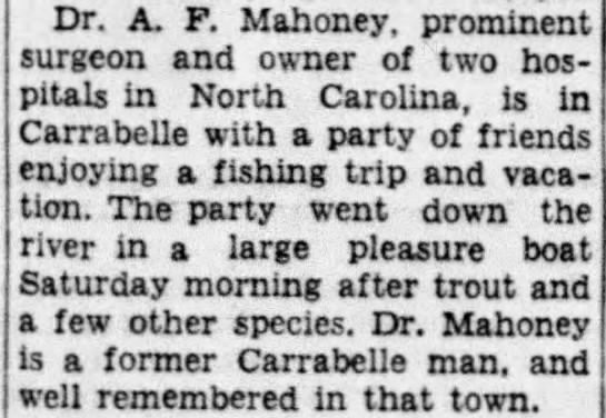 A. F. Mahoney Carrabelle Man -