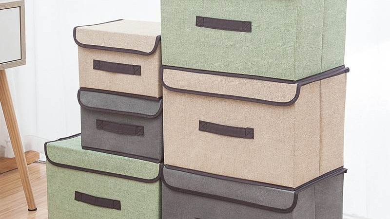 2 Size Non-Woven Fabric Foldable Storage Boxes