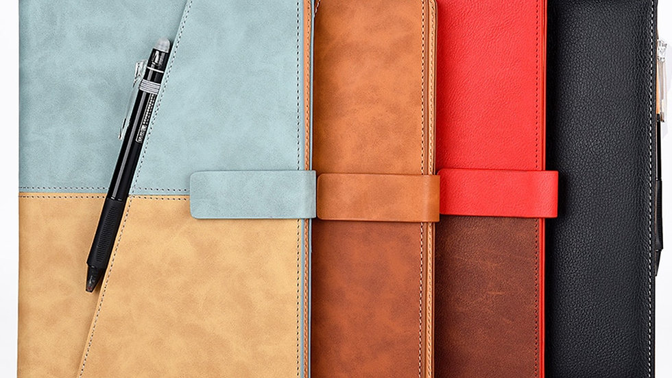 Elfinbook X Leather Smart Reusable Erasable Notebook Microwave Wave Cloud