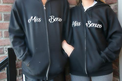 Miss Benzo Zip Up Hoodie (Lingerie)