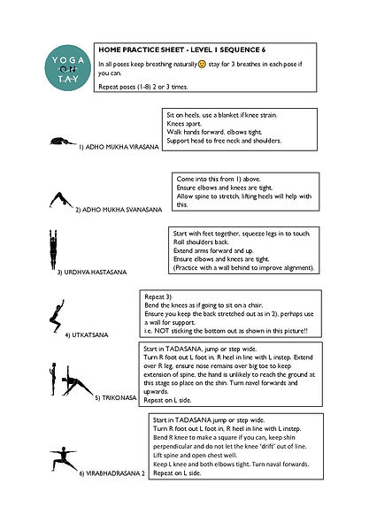 Yoga on Tay home practice sequence