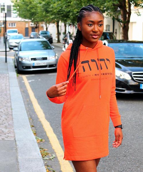 Genesis 22:14 - Women's Hooded Dress - YHWH-HEBREW
