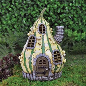 Enchanted Striped Gourd Cottage - Fairy Garden