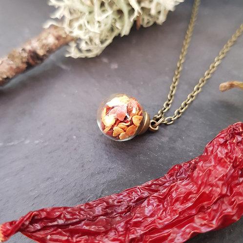 Chilli Globe Necklace