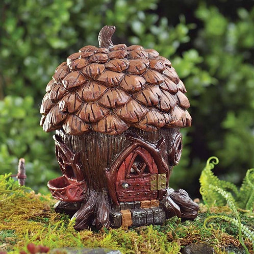 Enchanted Pine Cone Cottage - Fairy Garden