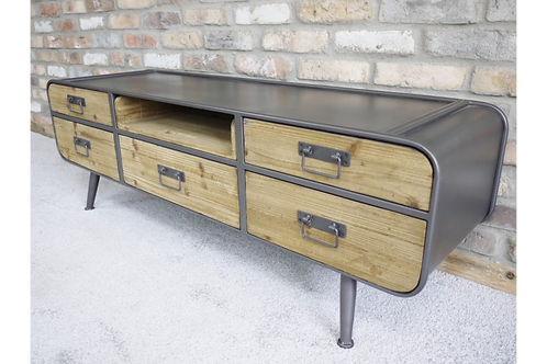Retro Industrial Low Cabinet