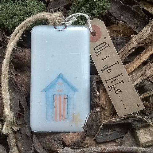 Oh i do like.... - fused glass hanger