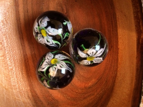 Marbles - Clematis - Handmade
