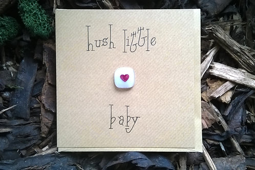 'Hush little baby' greetings card